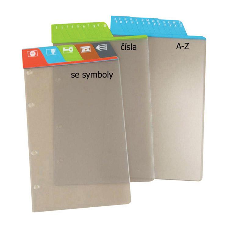 Dělicí listy čísla 1–5 šedé A5 (5 ks)