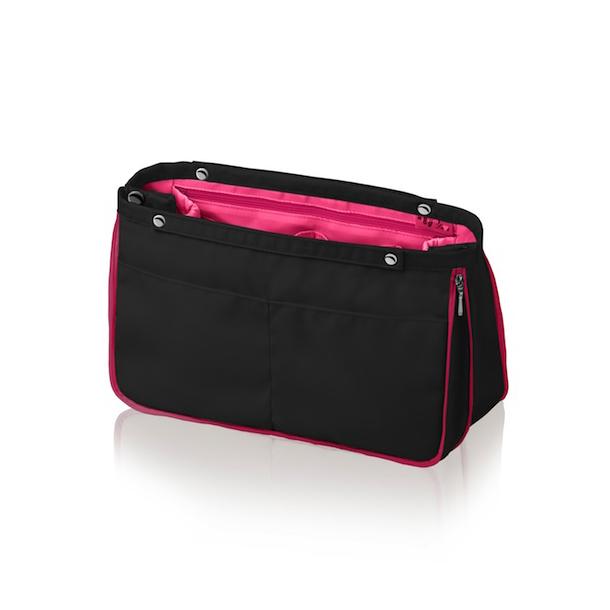 Organizer do kabelky MyBagMyLove Duo Classic černý/růžový