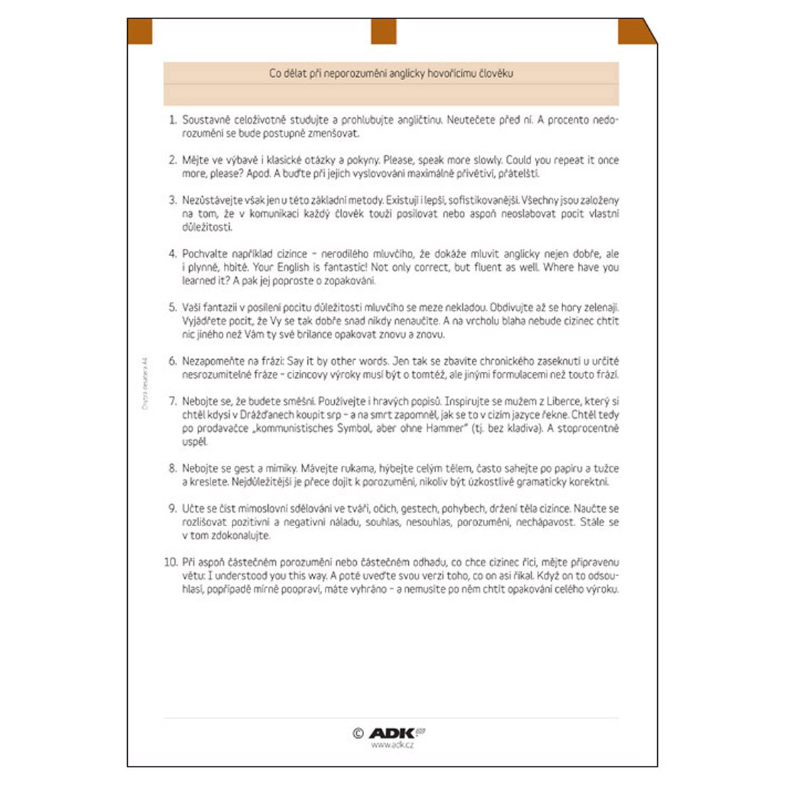 Formulář Chytrá desatera A4 (6 listů)