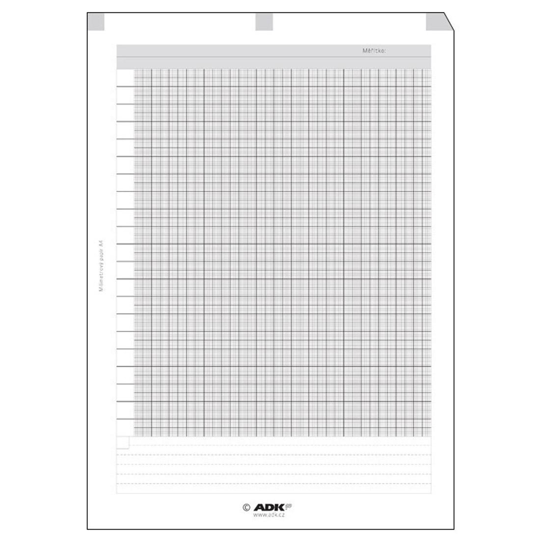 Milimetrový papír A4 (5 listů)