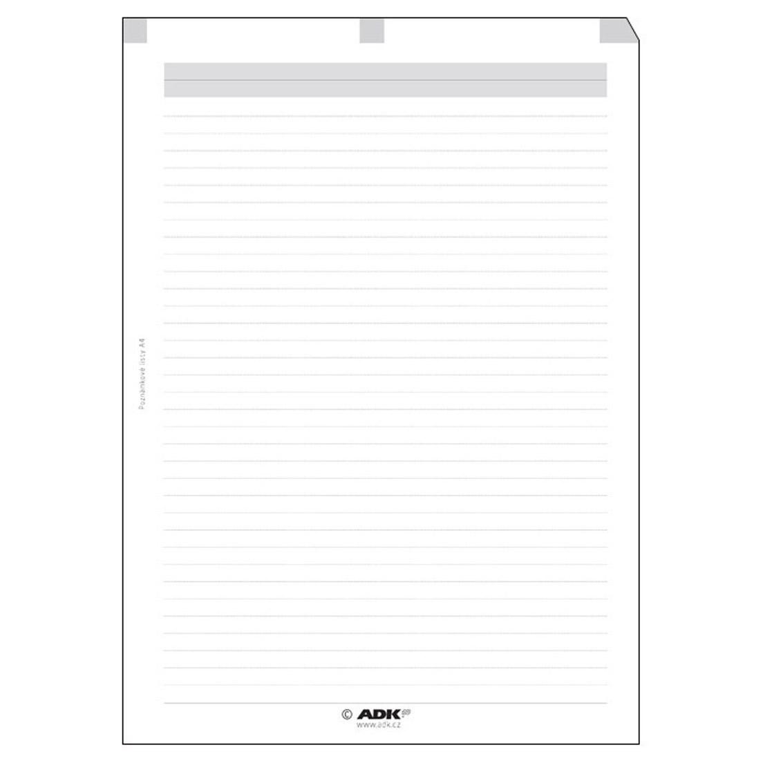 Formulář Poznámkové listy A4 (20 listů)