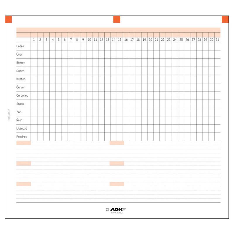 Formulář Roční plán A4 (2 dvojlisty)