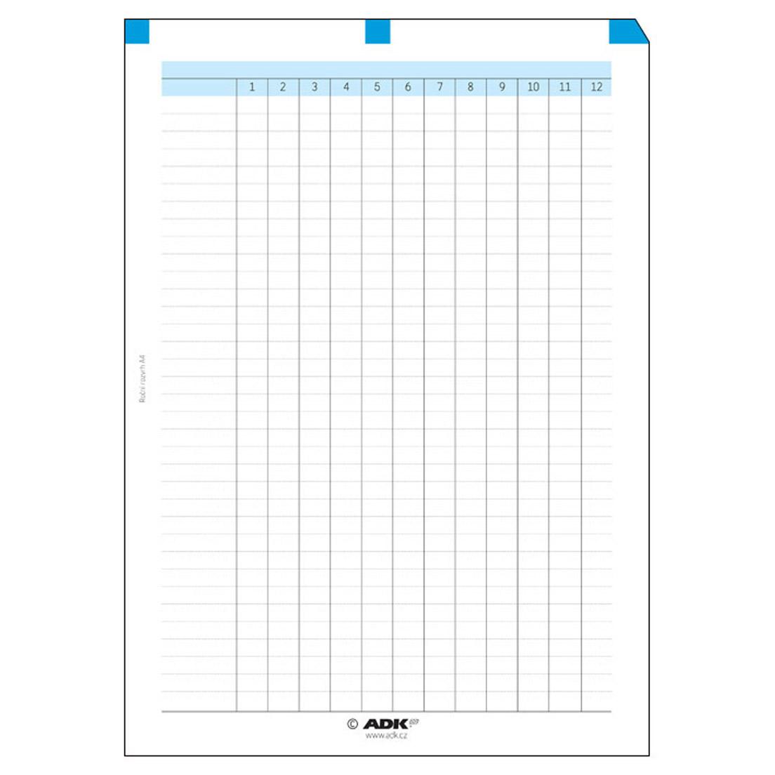 Formulář Roční rozvrh A4 (1 list)