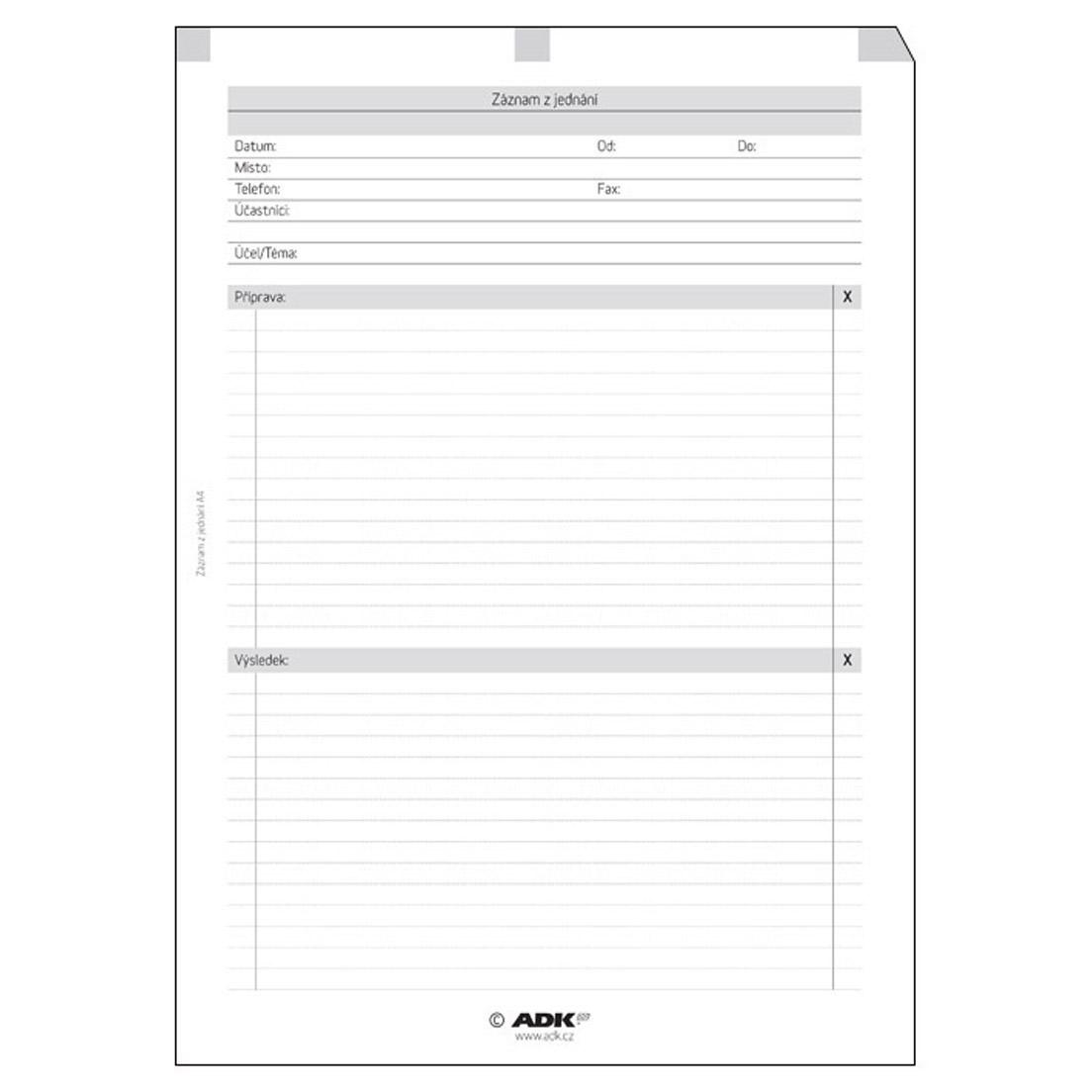 Formulář Záznam z jednání A4 (10 listů)