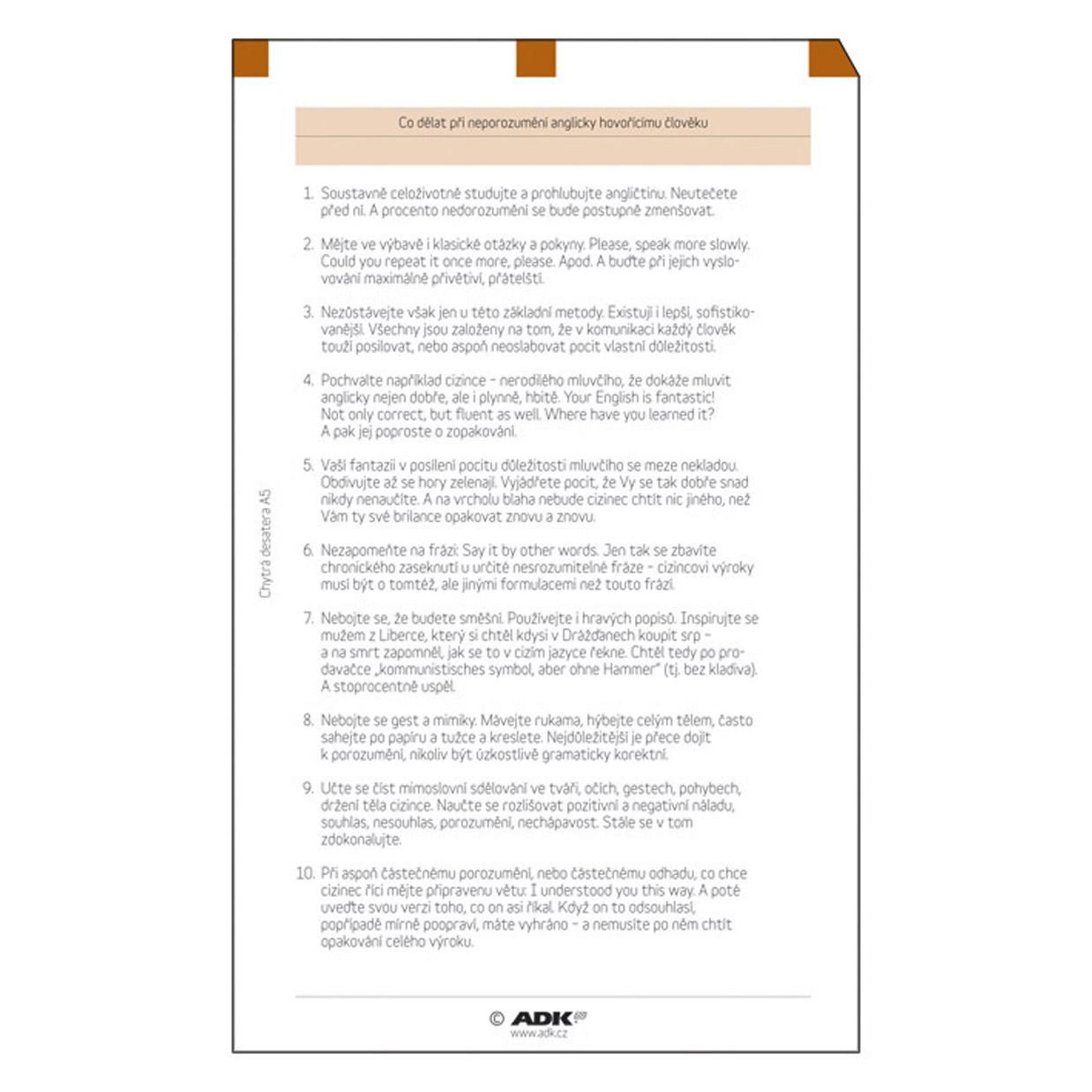 Formulář Chytrá desatera A6 (6 listů)