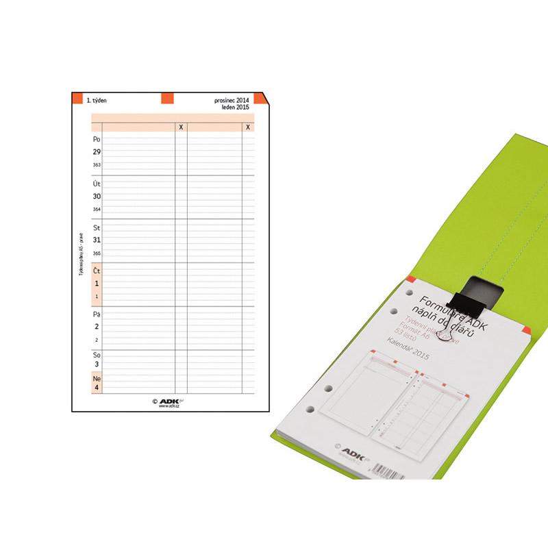 Formulář Finta Týdenní plán A6, blok 2021 (53 listů)