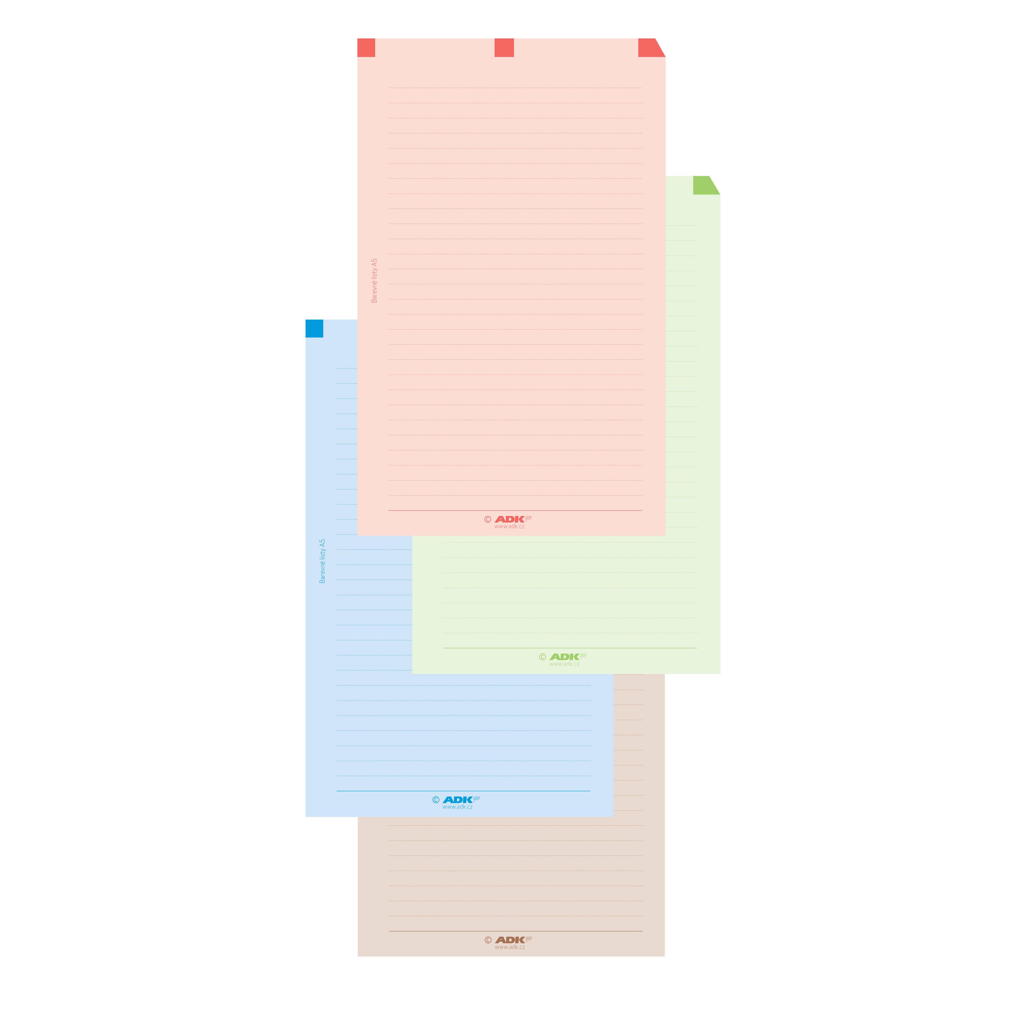 Formuláře Barevné poznámkové listy A5 (48 listů)
