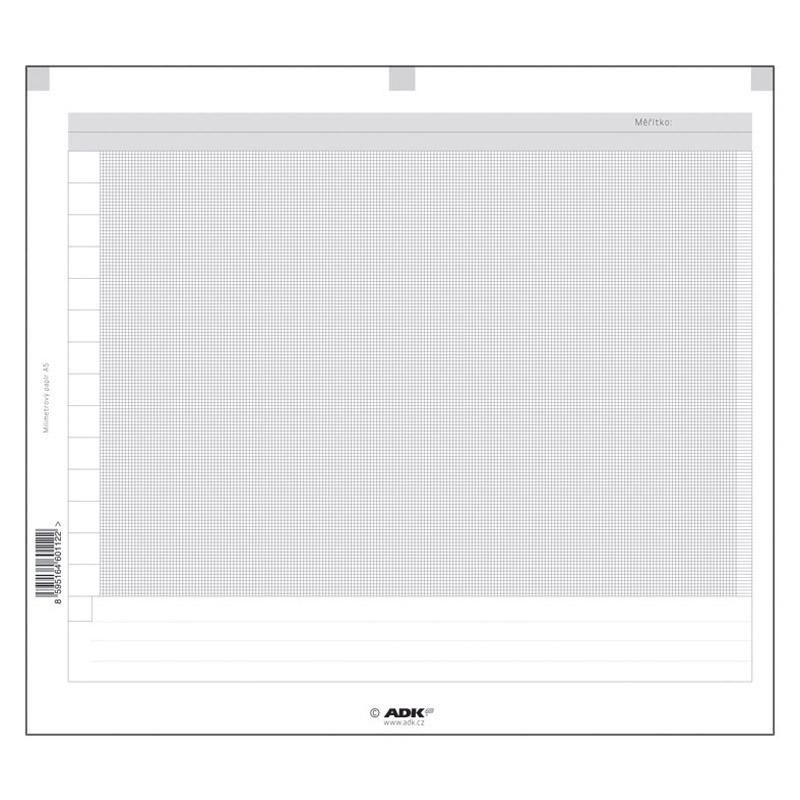Milimetrový papír A5 (4 dvojlisty)