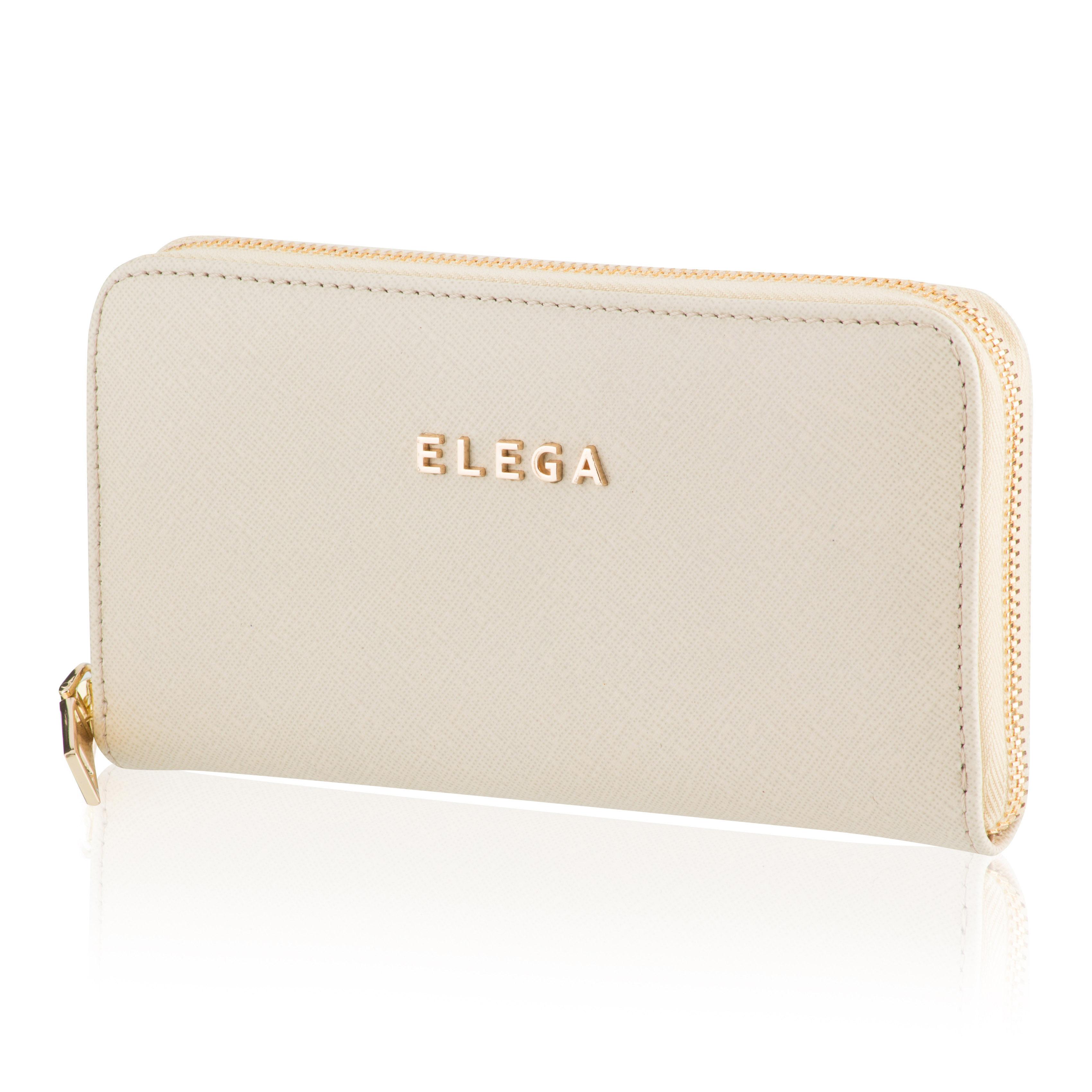 Dámská peněženka ELEGA Samara Saffiano béžová se zlatým kováním