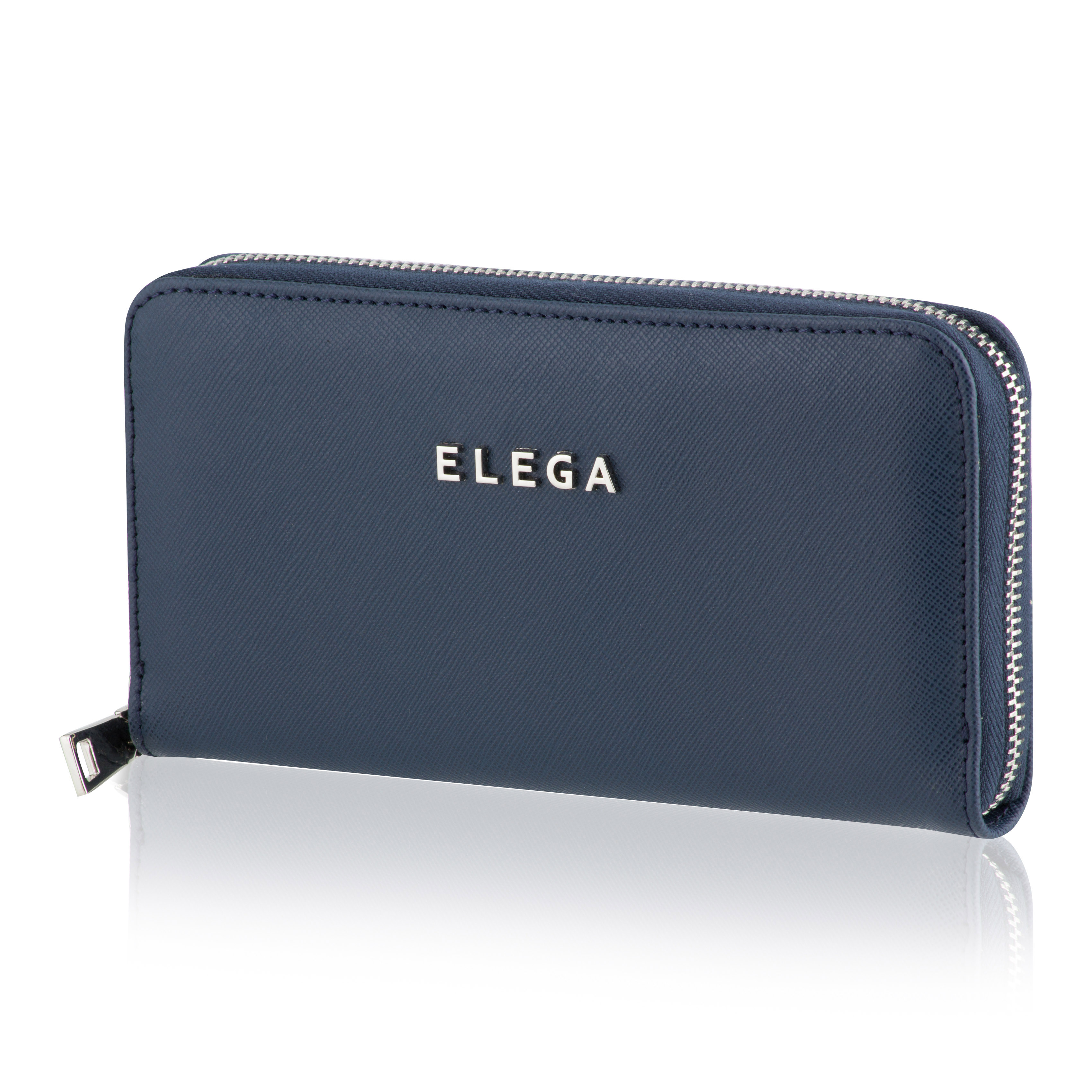 Dámská peněženka ELEGA Samara Saffiano modrá se stříbrným kováním