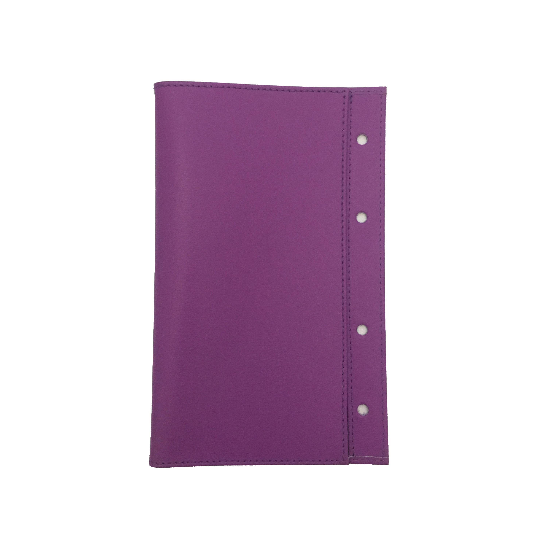 Obal na diář A5 ADK NewClassic kožený fialový