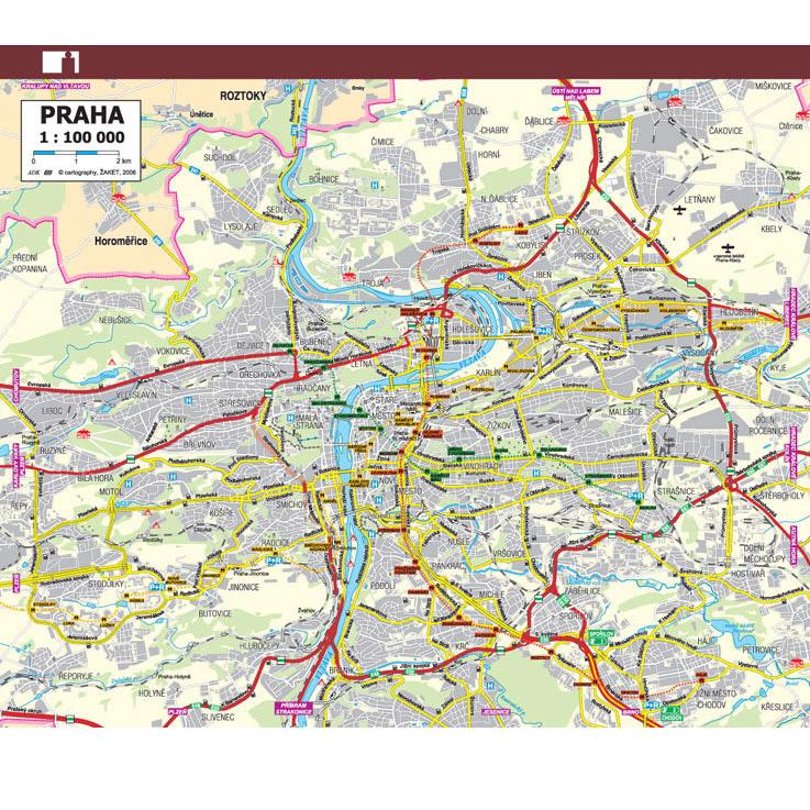 Mapa ČR a Prahy A6 (1 dvojlist)
