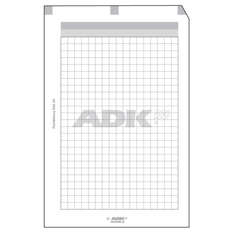 Formulář Poznámkový blok A7 děrovaný (30 listů)