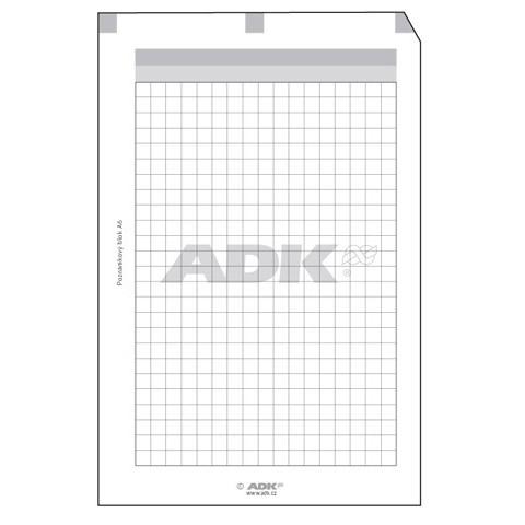 Formulář Poznámkový blok A6 děrovaný (50 listů)