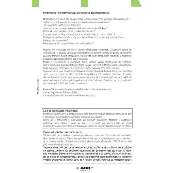 Formulář MindFulness A5 (2 listy a 18 dvojlistů)