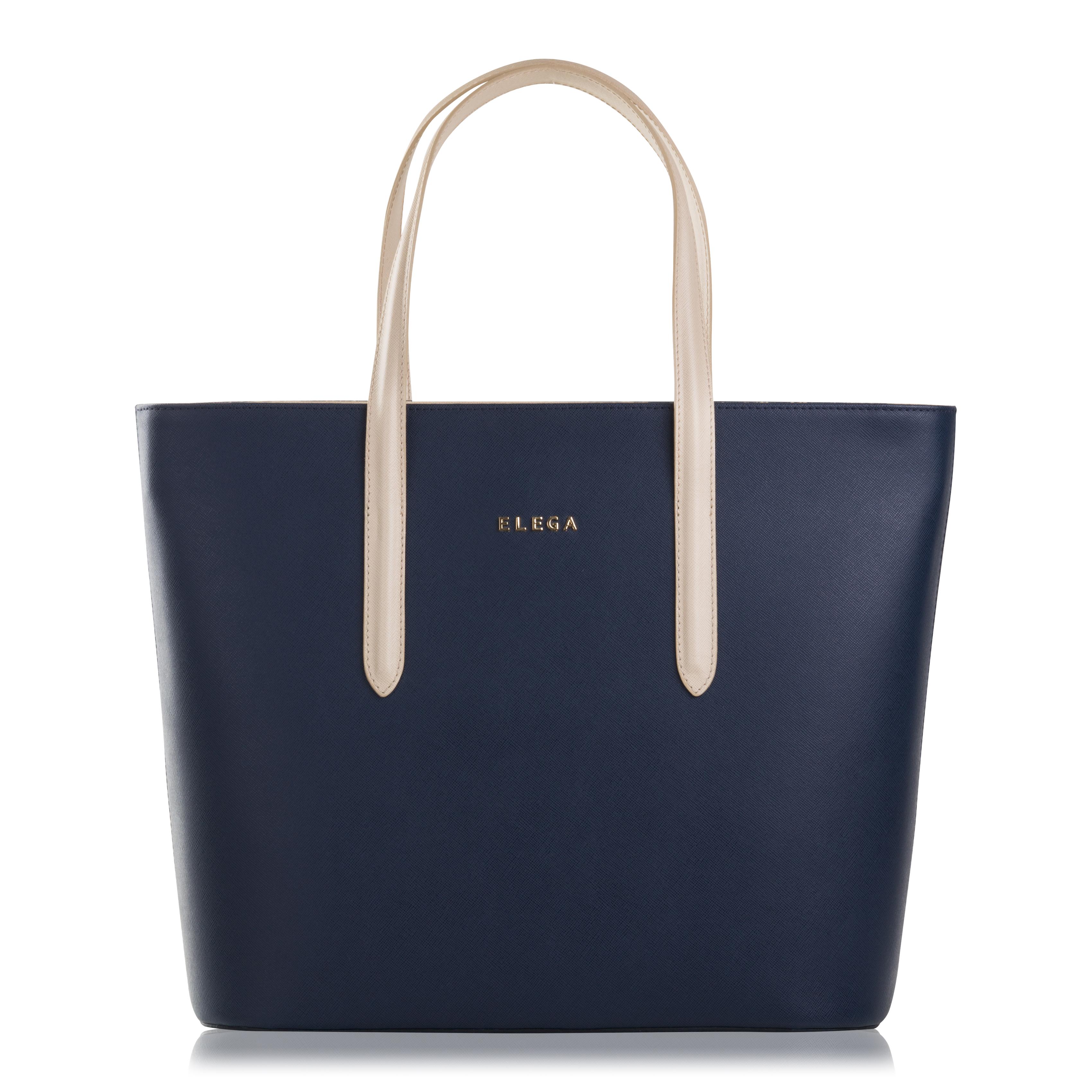 Kabelka shopperka Neapol DUO Simply modrá/béžová