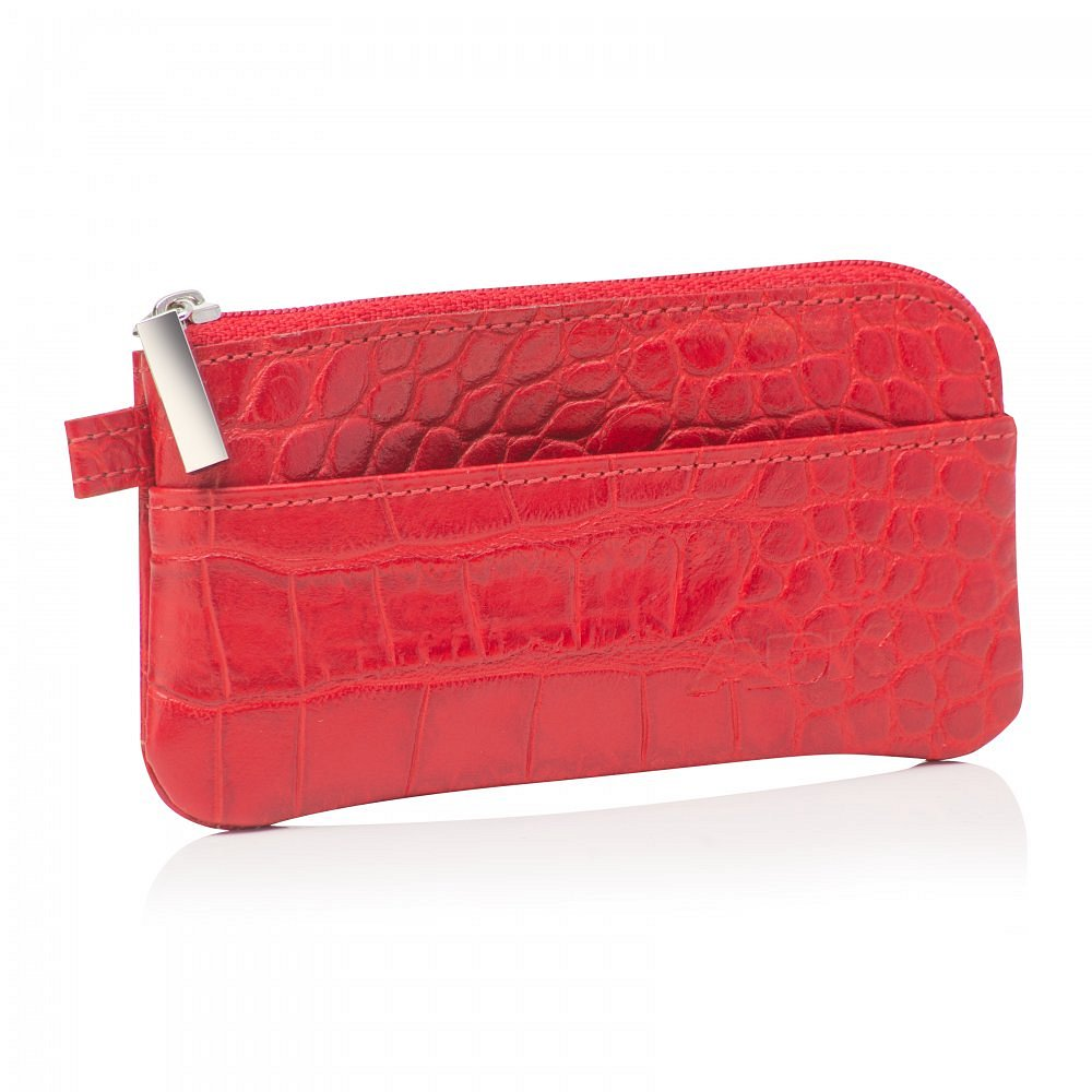 Klíčenka ADK Brenta Croco červená v krokodýlím designu