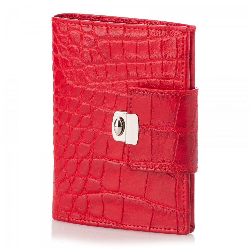 Dámská peněženka ADK Miramonte Croco červená v krokodýlím designu