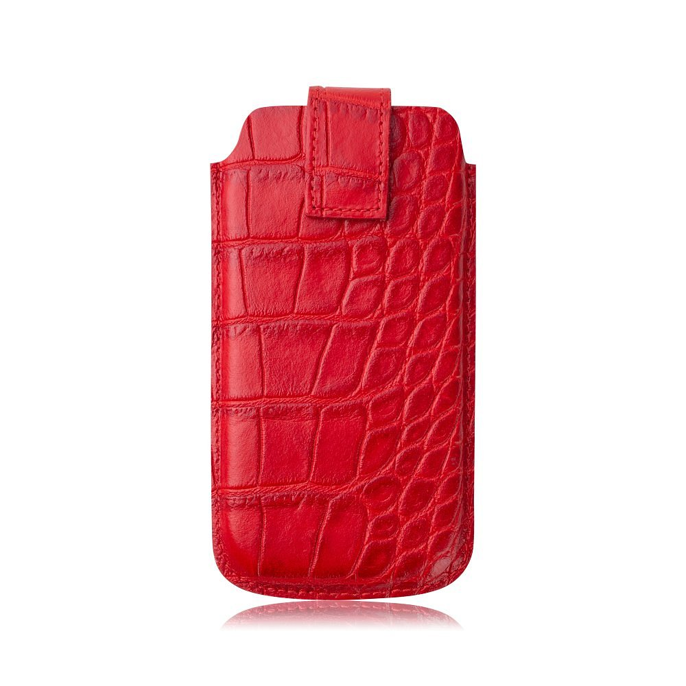 Pouzdro na telefon iPhone SE ADK Croco červené