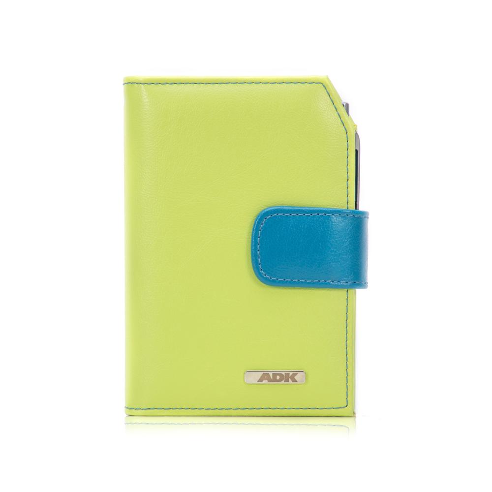 Diář ADK Finesa7 2021 zelený s modrou zápinkou