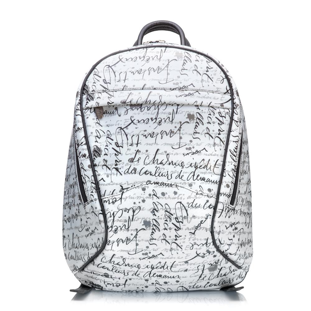 Městský batoh ADK SirenSenza bílý s černou