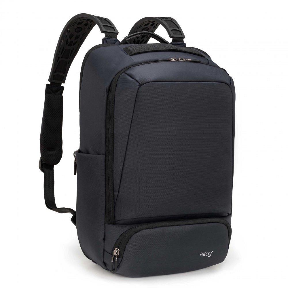 Cestovní batoh na notebook 15,6″ i-stay Overnight Navy tmavě modrý