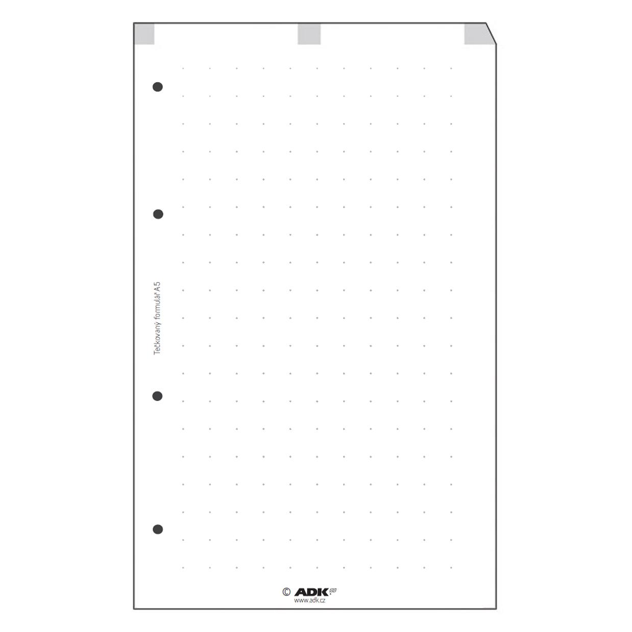 Formulář Tečky A5 (50 listů)